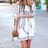 Sunward Off-the-Shoulder Dress