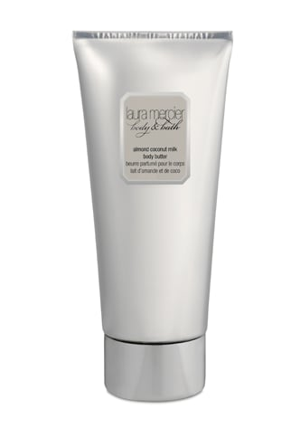 Laura Mercier Almond Coconut Milk Body Butter, $35  This super-rich body cream is packed with skin-soothing ingredients —shea butter, illipe butter, grape seed oil, jojoba, honey and aloe vera gel — and a transportative coconut fragrance.