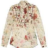 Zimmermann Mischief floral-print silk-organza blouse ($950)