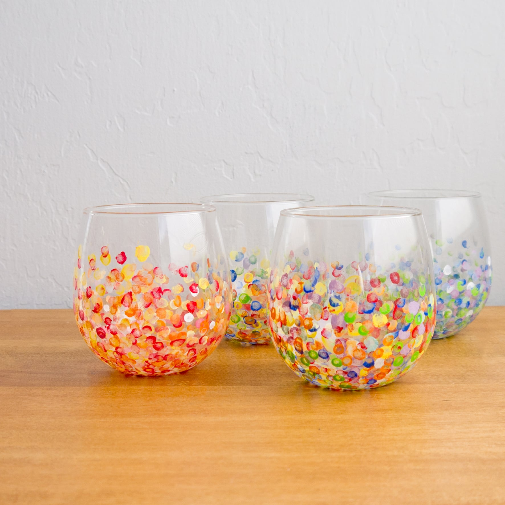 DIY Hand-Dotted Tumblers