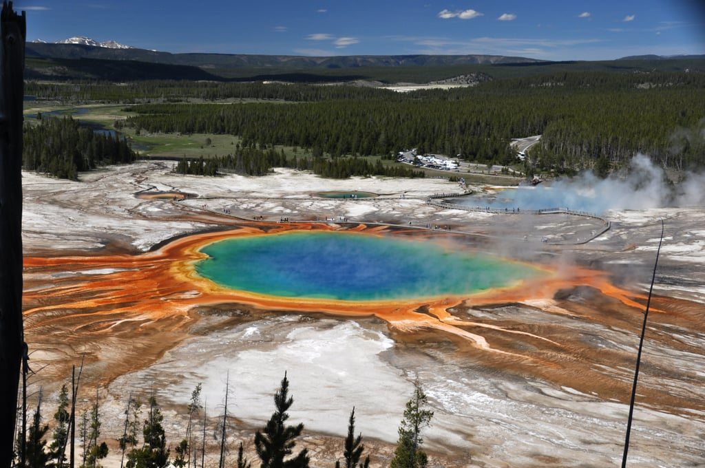Pictures won't do this natural wonder justice. The Grand Prismatic Spring, located in Yellowstone National Park, is famous for its beautiful colors. The hot spring (the biggest in America) is colorful because of the heat-loving bacteria that lives in the water. They produce hues ranging from green to red. You can hike the Fairy Falls Trail in the park to view the spring. Just make sure to pay attention to the signs and pathways — it's dangerous to get too close because the water is 160 degrees. That's hot! Check out all the beautiful photos of this incredible sight. Related: These 18 Unreal National Parks Need to Go on Your Bucket List ASAP