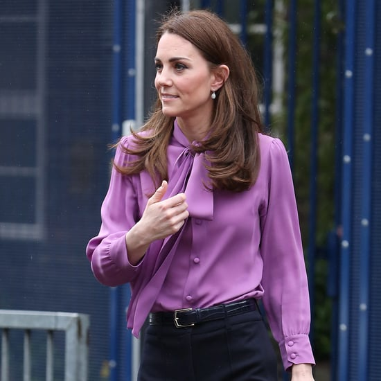 Is Kate Middleton Wearing Her Purple Gucci Blouse Backward?