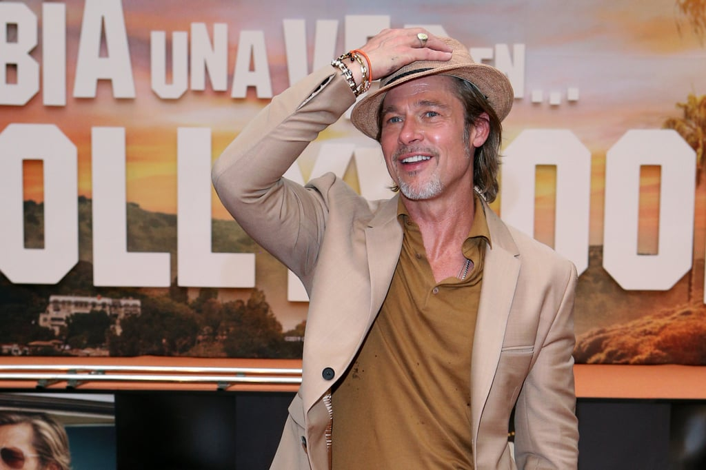 Brad rocked a fedora for the Once Upon a Time in Hollywood premiere in Mexico.