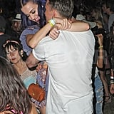Katy Perry was picked up by her new man at Coachella's second weekend.
