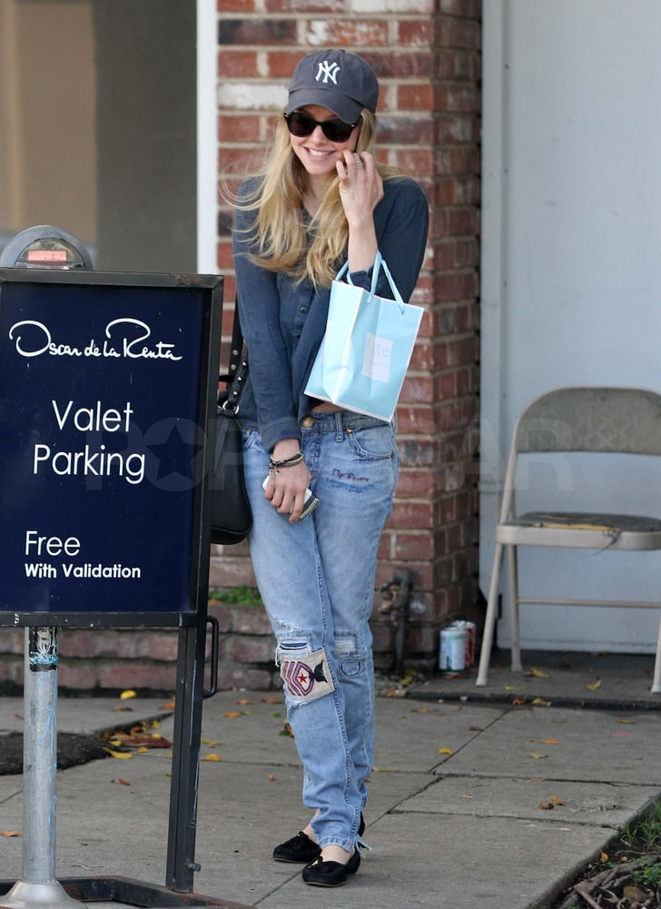Pictures of Amanda Seyfried Leaving Kate Somerville in LA