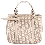 Christian Dior Leather-Trimmed Printed Bag
