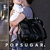 Everly Tatum took in her surroundings during an outing with Jenna Dewan.
