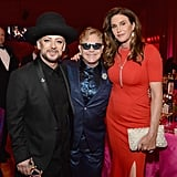 Pictured: Elton John, Boy George, and Caitlyn Jenner