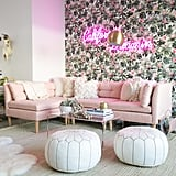 "Lauren can't imagine life before her show-stopping new living room. ""My absolutely favourite part of the new space has to be the blush sofa. Not only is it a favourite because it's pink, but it's also the place where everyone gathers and relaxes,"" she gushed."