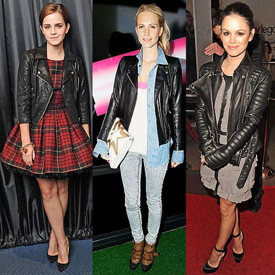 Celebrities Wearing Leather Jackets For Fall