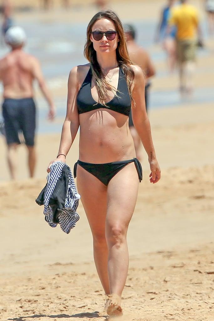 Olivia Wilde Bikini Baby Bump Photos April 2016