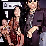 "In 1989, Lenny and Lisa brought a then-1-year-old Zoë to a press conference in NYC. Everyone say ""aww!"""