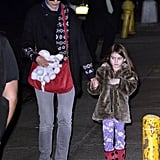 Katie Holmes and Suri Cruise held hands in NYC.