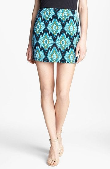 All you have to do is add a white tank to this Kensie ikat-print skirt ($29).