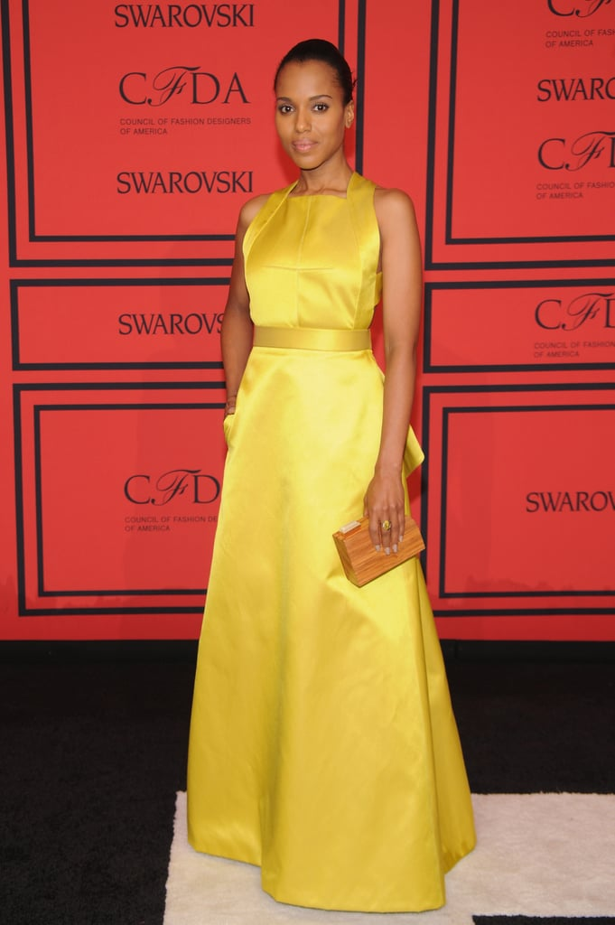 Kerry Washington was a ray of sunshine in a yellow Givenchy gown.