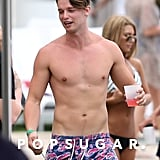 Patrick Schwarzenegger's Effortless Pool Party Appearance