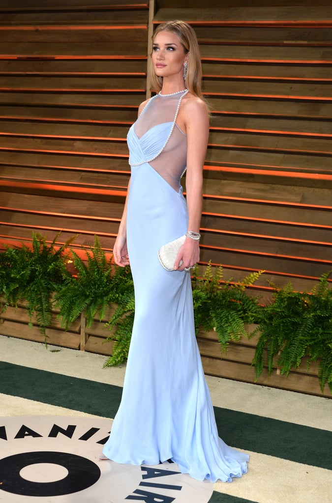 Rosie Huntington-Whiteley at the 2014 Vanity Fair Oscars Party