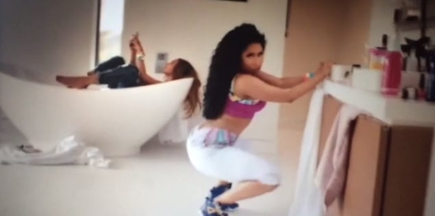 Leave it to Nicki to twerk it out in the coolest workout gear.