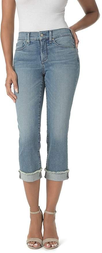 40ba12acb93 NYDJ Petites Marilyn Cropped Cuffed Jeans in Pacific