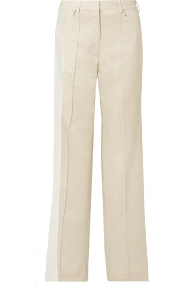 Peter Do Twill-Trimmed Tencel-Blend Straight-Leg Pants