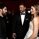 Pictured: Darren Criss, Justin Timberlake, and Jessica Biel