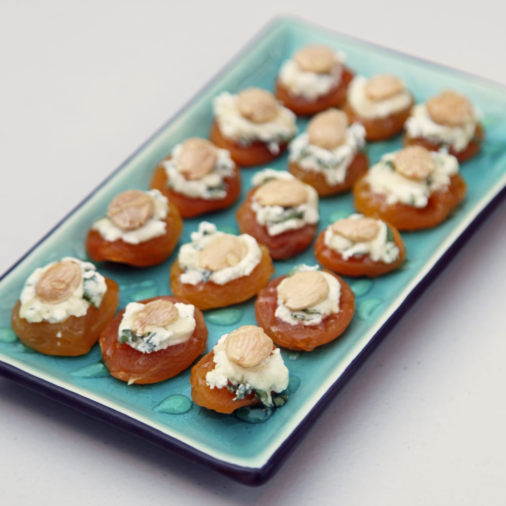 Vegetarian Appetizers: Apricot, Goat Cheese, and Almond Bites