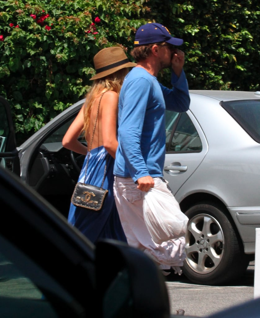 Blake Lively and Leonardo DiCaprio were spotted on their way into Fred Segal in Santa Monica Friday. The couple browsed together and then headed to Umami Burger, where Leo snacked on onion rings. Blake and Leo's day date came to an end when Blake had to get back to work on Savages, which she's been filming alongside Salma Hayek all week. While Blake's been busy on set, Leo showed off his new eco-friendly ride, the $100,000 Fisker Karma sedan, during a drive around town. Leo was also in the spotlight for his latest movie project, when a still of him from the upcoming J. Edgar Hoover biopic was released. Blake and Leo have been out and about together all Summer, though we'll have to wait and see if Leo helps Blake celebrate her 24th birthday, which is coming up next week.