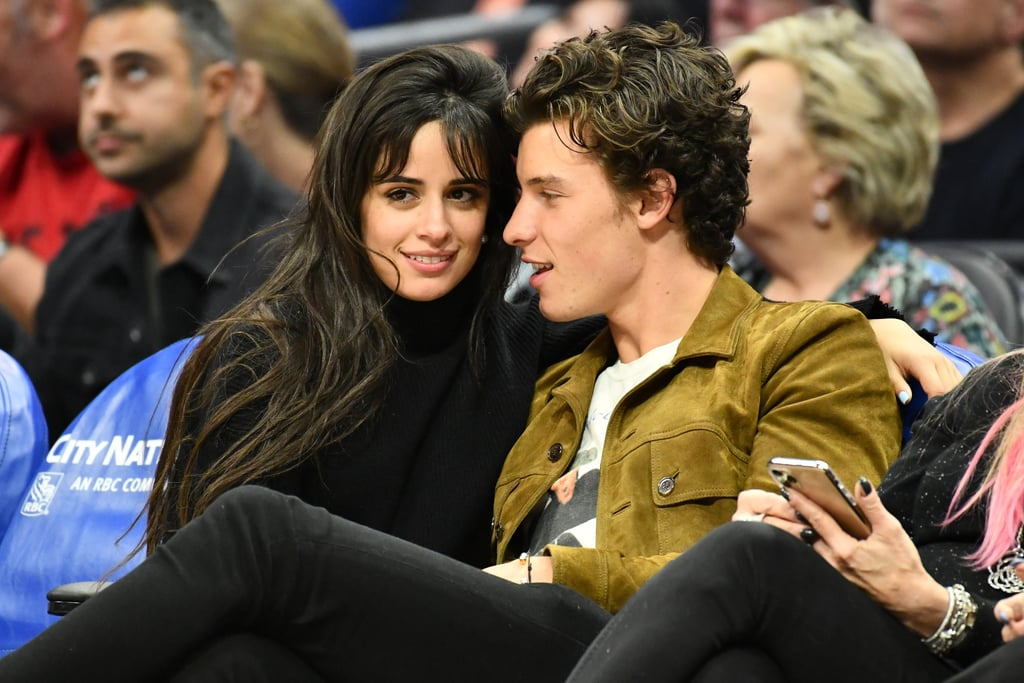 Camila Cabello and Shawn Mendes at a Basketball Game