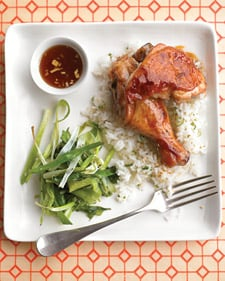 Teriyaki Chicken With Roasted Scallions Recipe