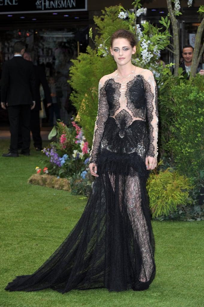 Kristen Stewart Rocks Lacy Marchesa Gown For SWATH Premiere