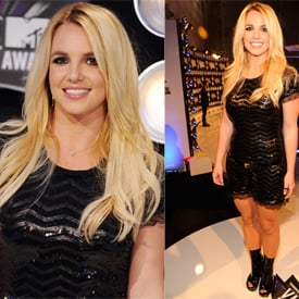 Pictures of Britney Spears at 2011 MTV VMAs in Black Sequinned Mini Dress