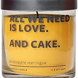 A candle that smells like pineapple meringue is what dreams are made of. Glass Jar Candle - Pineapple Meringue - Sincerely Me ($10)