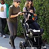 In LA, Jillian Michaels and Heidi Rhoades took their kids to visit Mr. Bones Pumpkin Patch.
