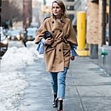 A Camel Coat, Cropped Jeans, and Ankle Boots
