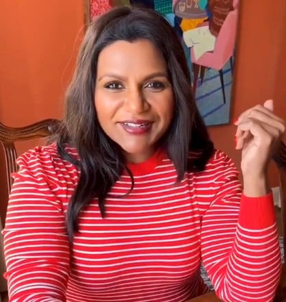 Mindy Kaling POPSUGAR at Kohl's Striped Shirt