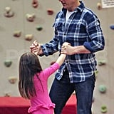 Tom Cruise and Suri Cruise spent time together.