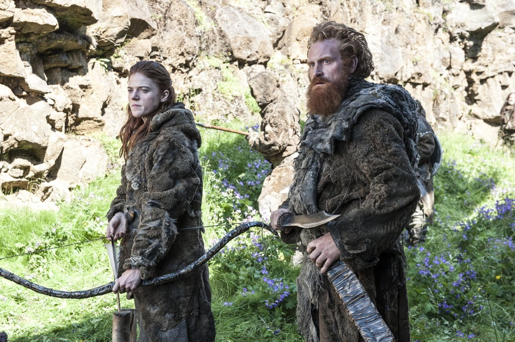 Rose Leslie as Ygritte and Kristofer Hivju as Tormund.