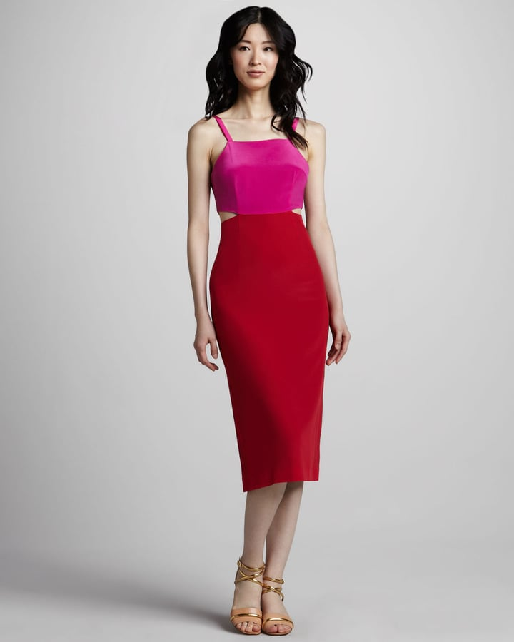 Pink and red make this Mara Hoffman colorblocked cutout dress ($297) a standout — the head-turning kind.