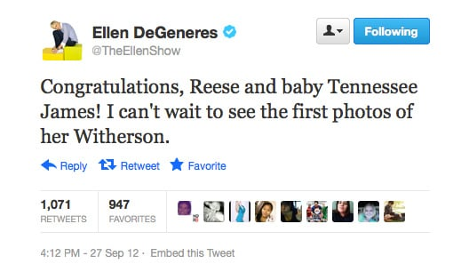Ellen DeGeneres makes use of one of the many Witherspoon