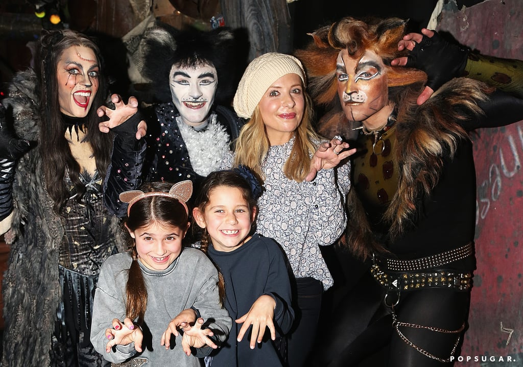 "Sarah Michelle Gellar brought her 7-year-old daughter, Charlotte Prinze, and Charlotte's friend to the Broadway musical Cats in NYC on Sunday. The trio appeared to have a blast as they posed for fun photos with the cast backstage. Sarah also documented the outing on Instagram, uploading a photo of her daughter taking in the show, writing, ""This is my little kitty, watching the crazy talented cast of @catsbroadway take their curtain. #memory."" Sarah and Charlotte have been taking the Big Apple by storm over the past couple of days. In addition to checking out the Hamilton musical on Saturday, the ladies also stopped by the One World Observatory. We can't wait to see where they pop up next!"