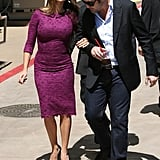 In April 2011, Javier helped Penélope after she stumbled in her heels as she made her way to her Hollywood Walk of Fame star presentation.