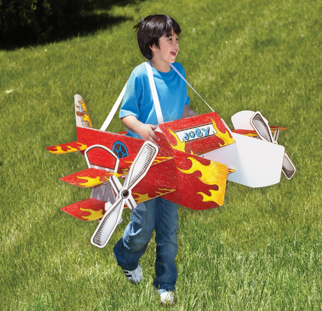 For 7-Year-Olds: Wearables Stunt Plane USA Corrugated Construction Role Play Toy