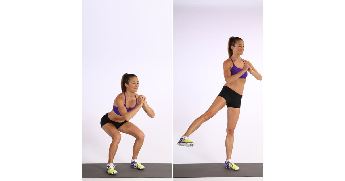 Body Weight Squats With Side Kicks | Glute Exercises For Women