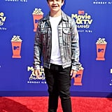 Gaten Matarazzo at the 2019 MTV Movie and TV Awards