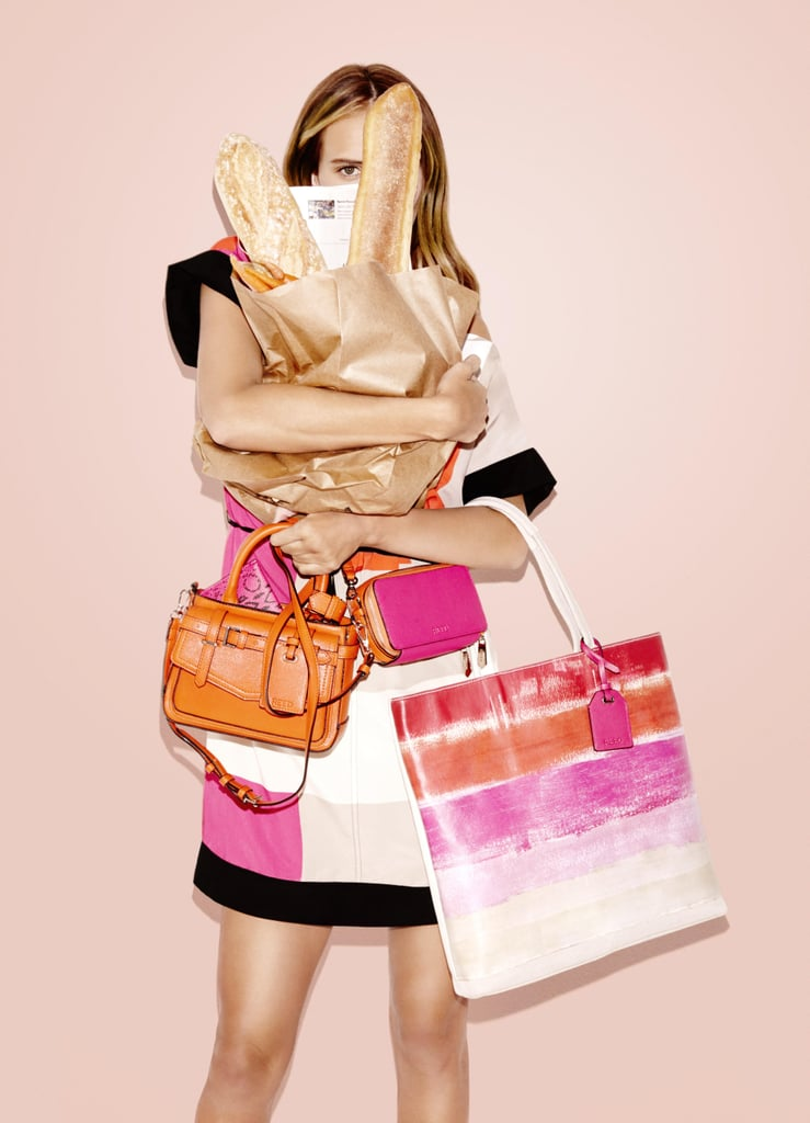 RK40 Belted Convertible Mini Satchel ($59) and RK40 Abstract Tote ($52)