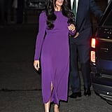 Meghan Markle Rewears Purple Dress at One Young World Summit