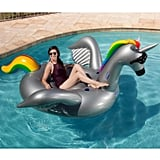Giant Inflatable Ride-On Rainbow Pool Float