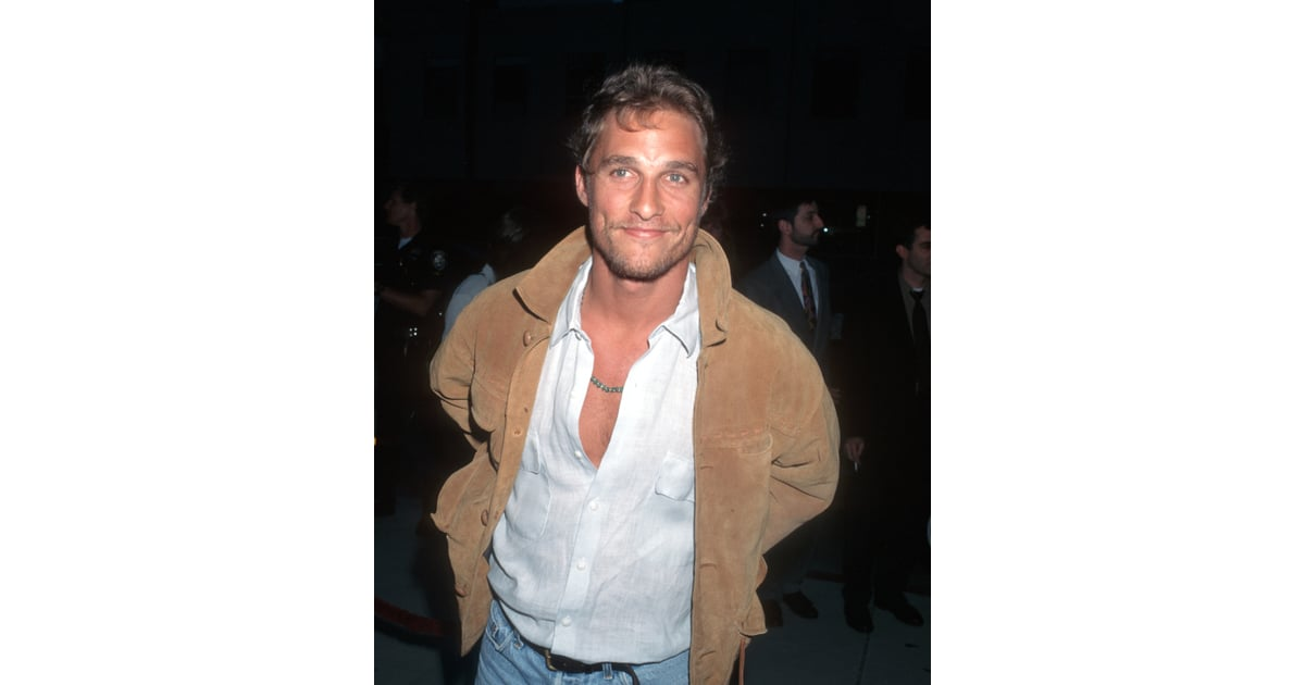 Matthew Mcconaughey Flaunted His Bare Chest At The May 1996 Premiere