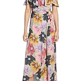 Band of Gypsies London Ruffle Cold-Shoulder Maxi Dress
