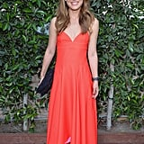 Natalie Portman looked every bit the ballerina in red silk Dior at a gala for the LA Dance Project.